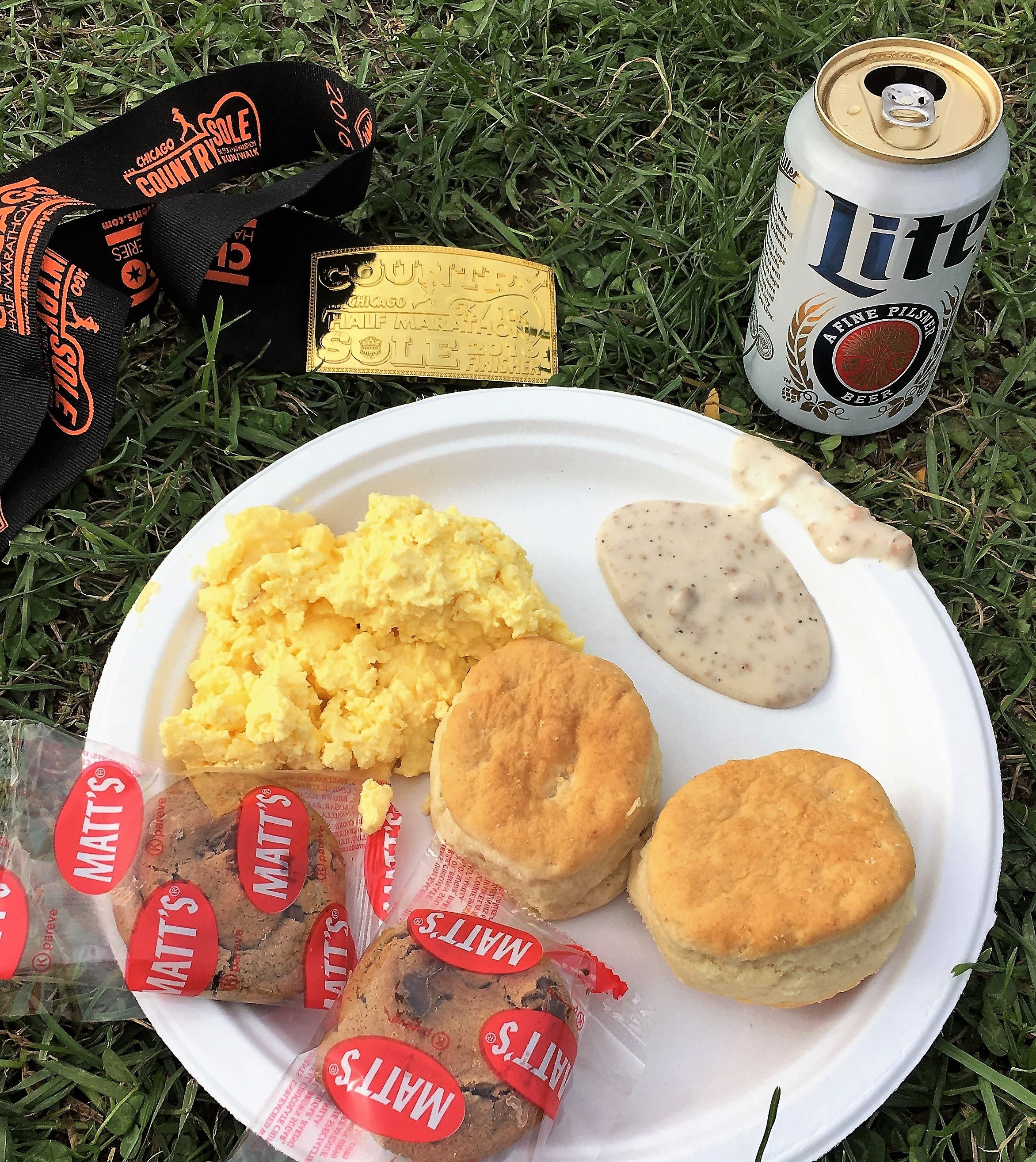 Nothing Says Country Like Beer, Biscuits and Grave, and a Belt Buckle to Boot!