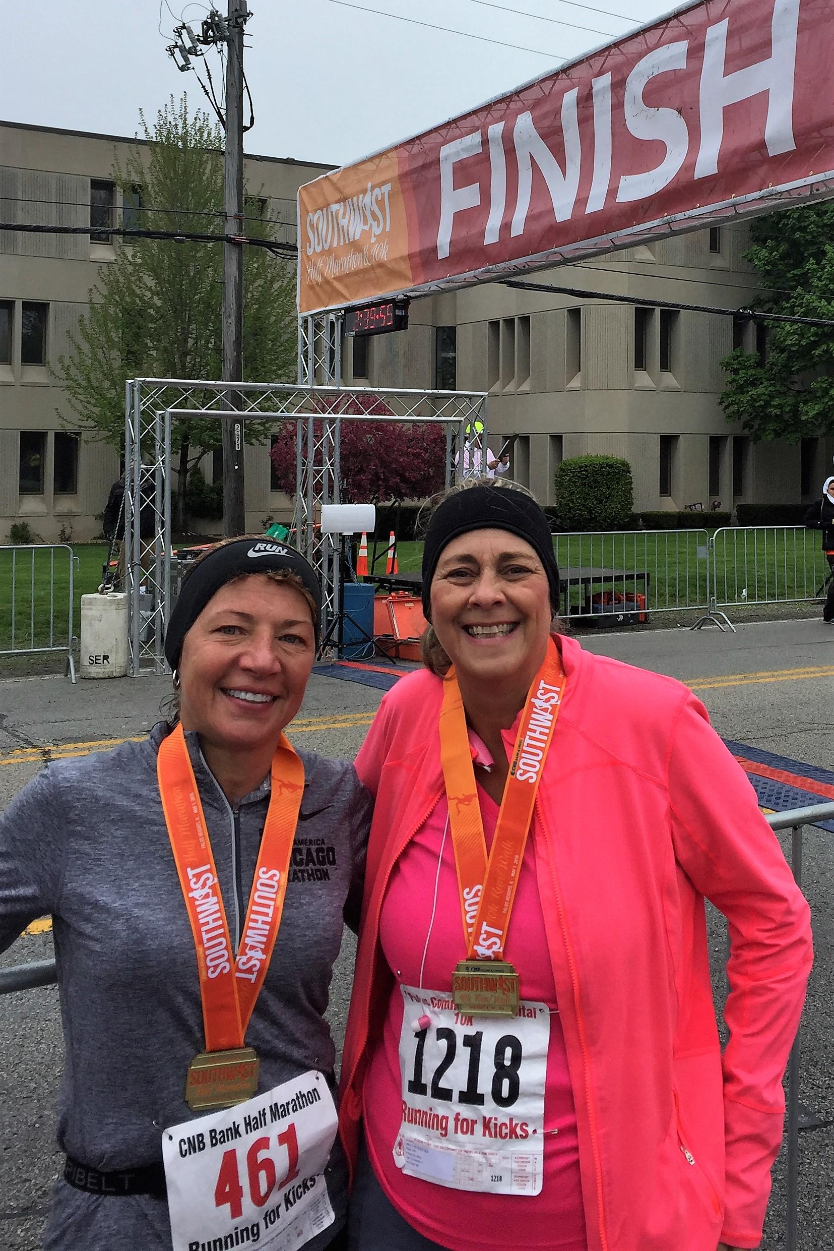 Southwest Half Finish with Mary