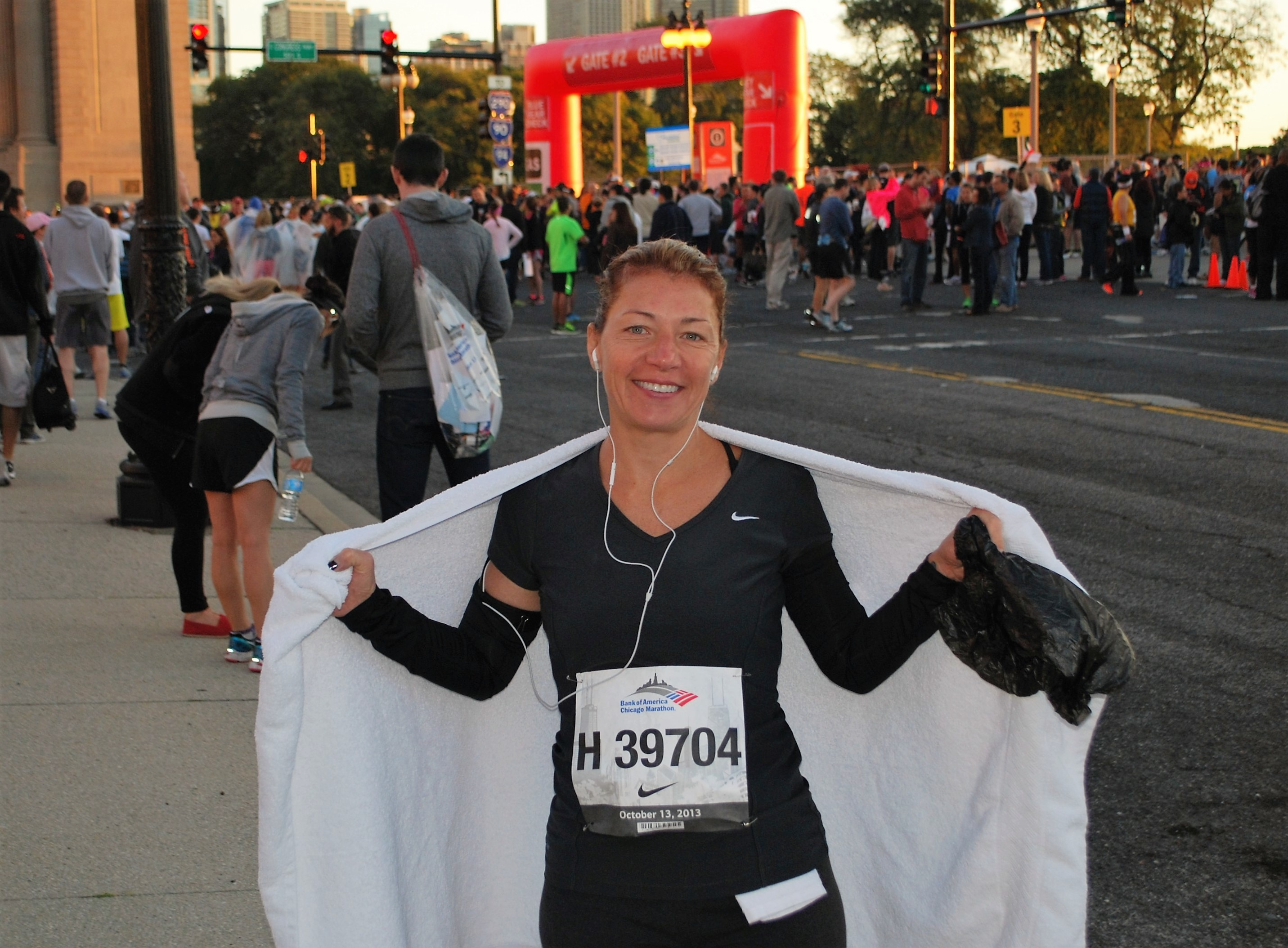 Pre-race with Towel 2013